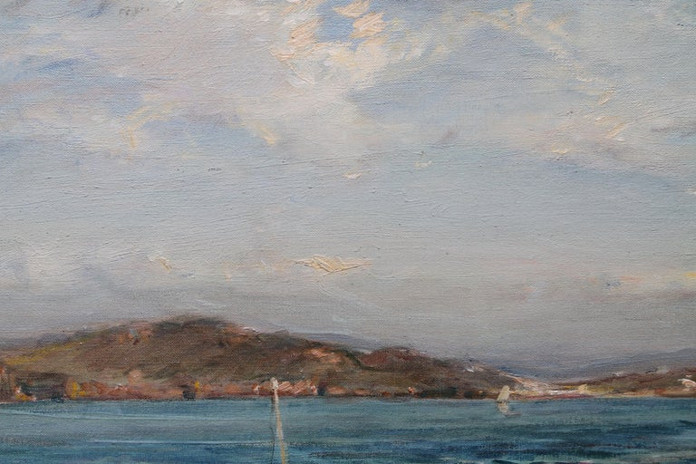 The Ferry Iona - Scottish Edwardian Impressionist art seascape oil painting  For Sale 5