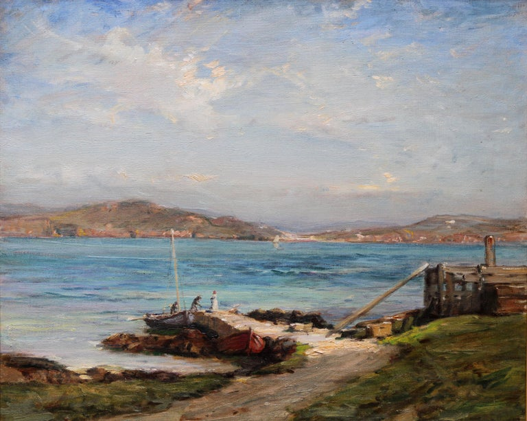 The Ferry Iona - Scottish Edwardian Impressionist art seascape oil painting  For Sale 8