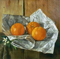 Still Life with Oranges and the Sacramento Bee Newspaper