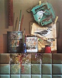 Studio Still Life, Offset Lithograph, James Carter