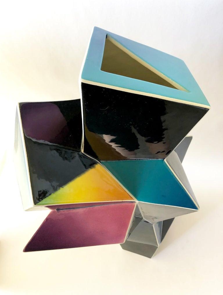 Earthenware James Caswell Davis 1987 California Postmodernist Sculptural Ceramic Vase For Sale