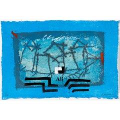 Paysage bleu #1230