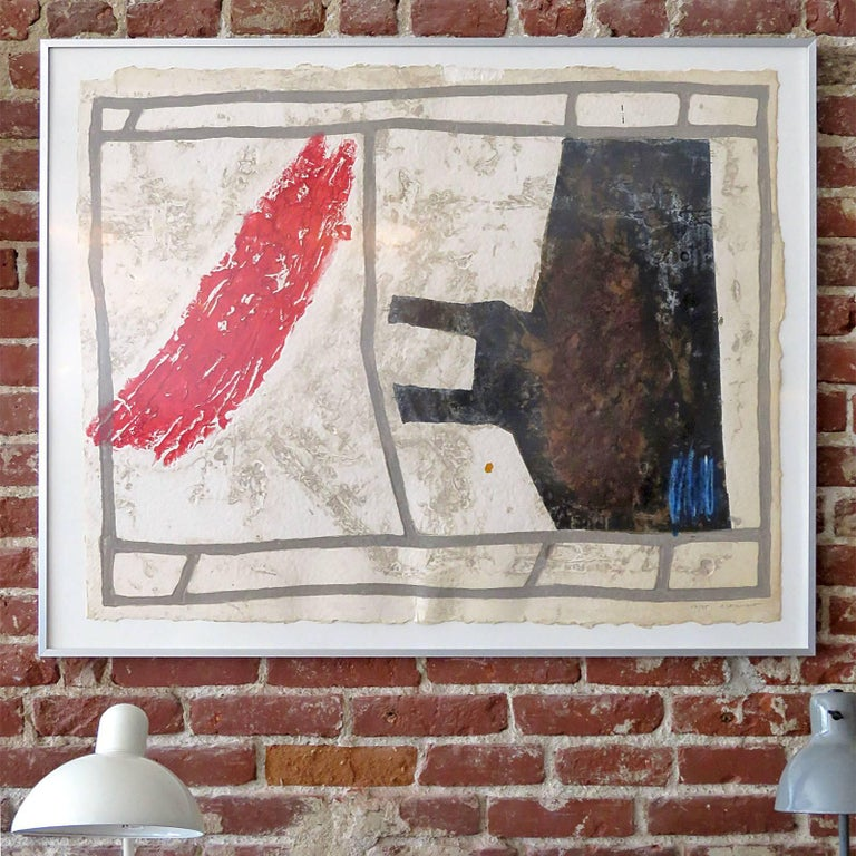 Wonderful original signed and framed carborundum etching 'Occupation' by French artist James Coignard (1925-2008), pencil signed and numbered by Coignard: 17/75, image size: 43? x 34?, framed.