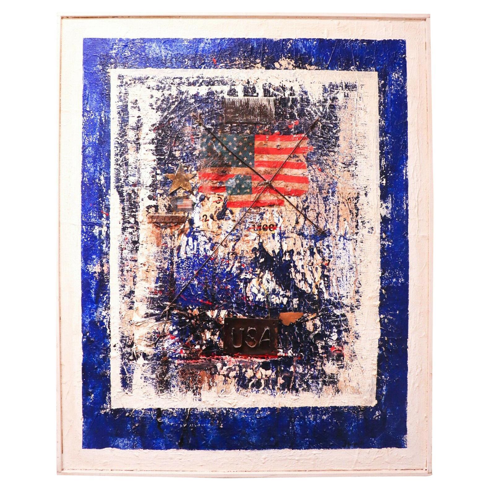James Coignard, Oil Painting on Canvas / Collage, USA