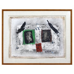 James Coignard Untitled Modern Carborundum Hand Signed Etching Framed