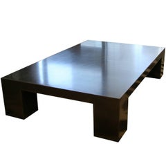 James de Wulf Block Coffee Table in Black