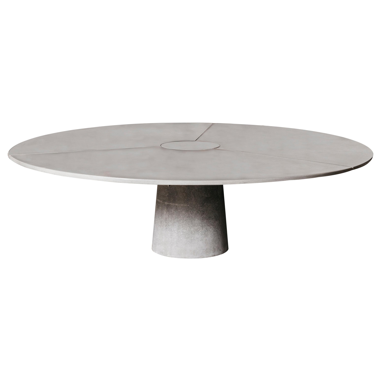 "James de Wulf Concrete 3-Piece Locking Round Table, 102"""