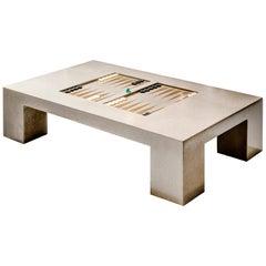 James de Wulf Concrete Backgammon Coffee Table
