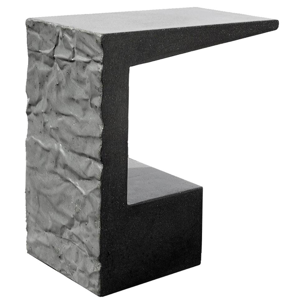 James de Wulf Concrete Crumple Side Table