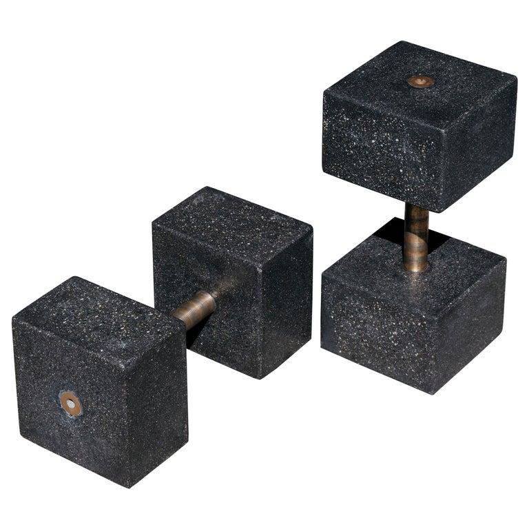 Concrete dumbbell set