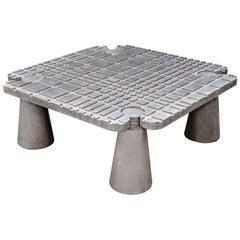 James de Wulf Concrete Fibonacci Locking Coffee Table