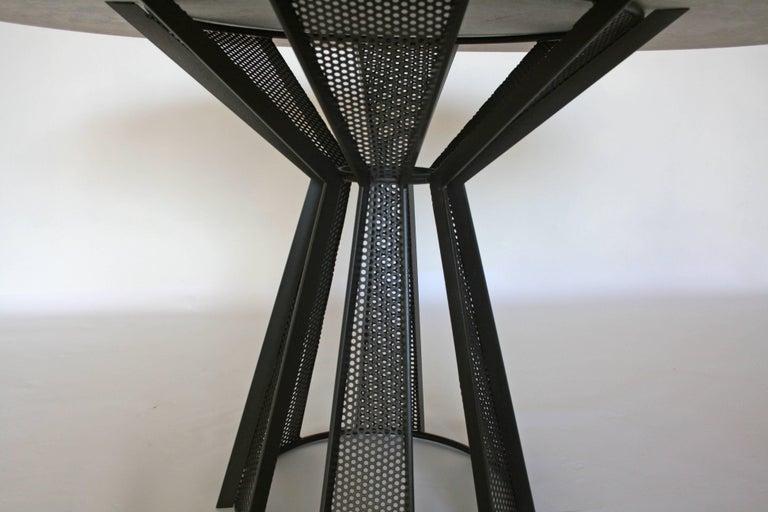 Industrial James de Wulf Concrete Harvest Dining Table, 72