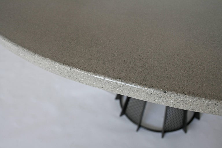 Hand-Crafted James de Wulf Concrete Harvest Dining Table, 72