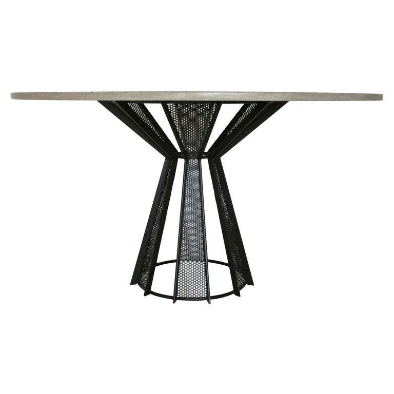 "James de Wulf Concrete Harvest Dining Table, 72"" For Sale"