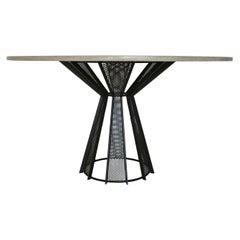 "James de Wulf Concrete Harvest Dining Table, 82"""