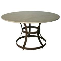 "James de Wulf Concrete Hourglass Dining Table, 48"""