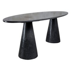 James de Wulf Concrete Oval Double Locking Table