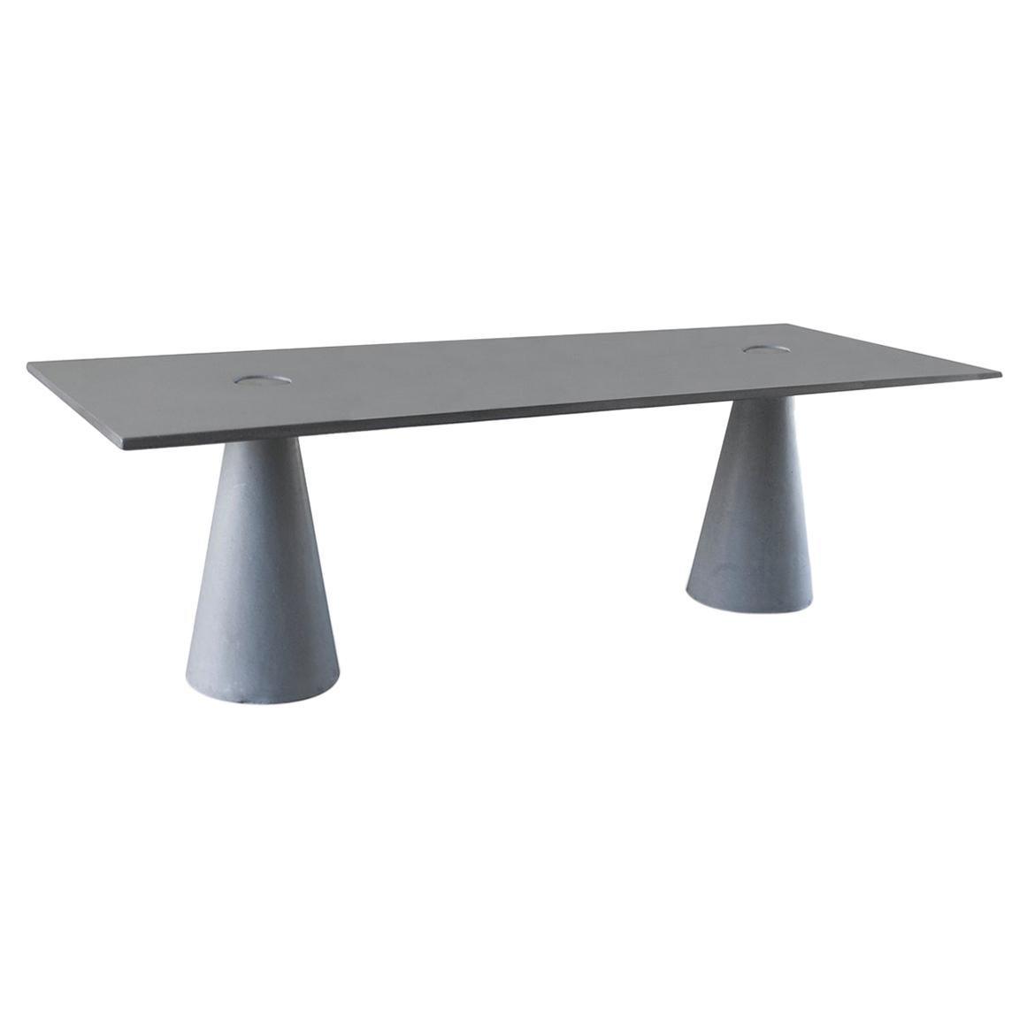 "James de Wulf Concrete Rectangular Double Locking Table, 120"""