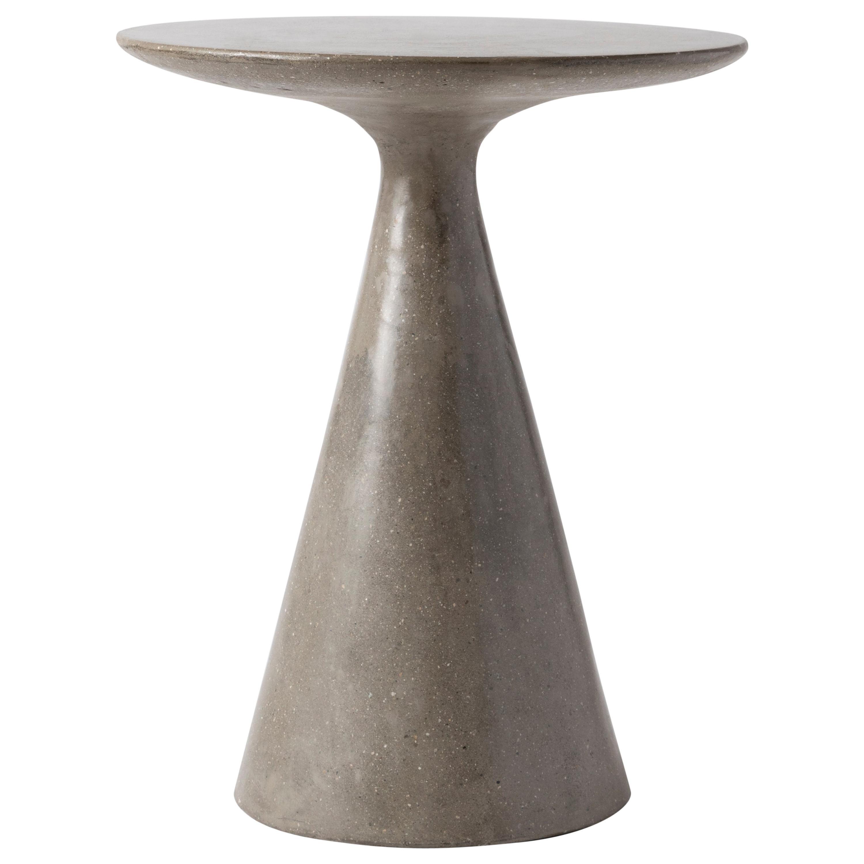 James de Wulf Concrete Round Side Table