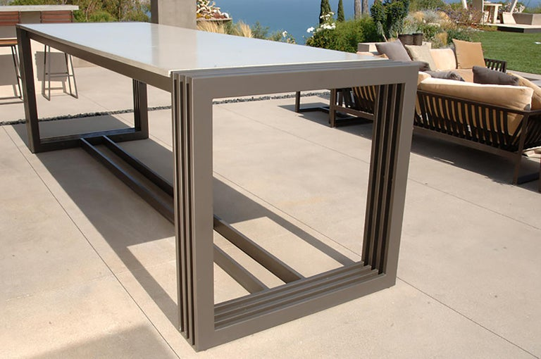 Contemporary James de Wulf Concrete Workbench Dining Table For Sale