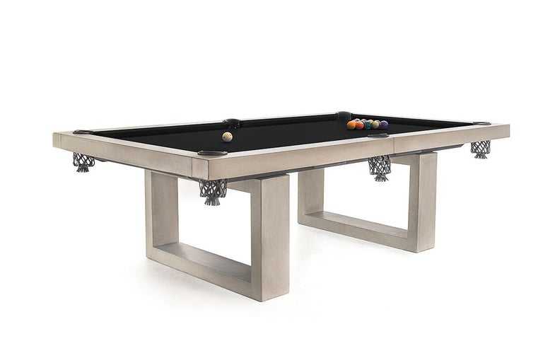 Brutalist James de Wulf Custom Concrete Billiards Table For Sale