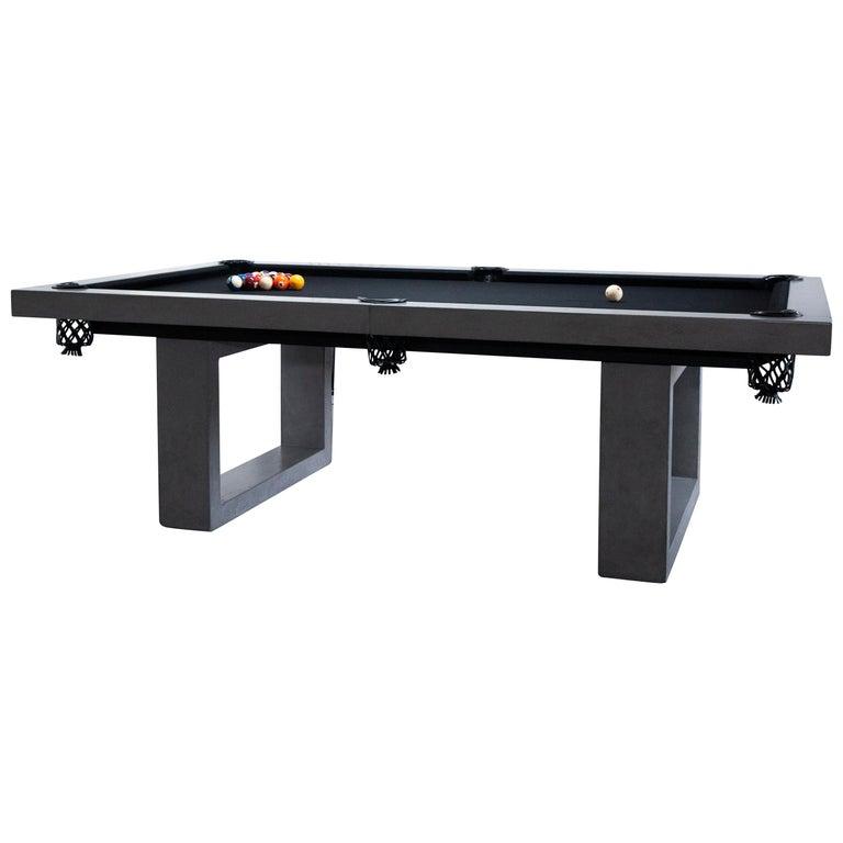 James de Wulf Custom Concrete Billiards Table For Sale