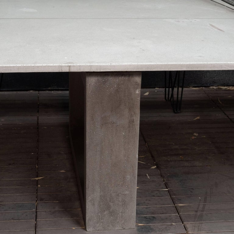 James De Wulf Outdoor Concrete Ping Pong And Dining Table