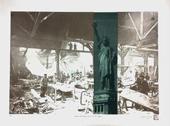 Liberty in Paris and New York- Contemporary Lithograph, 21st Century