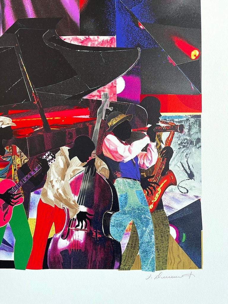 JUMPIN' & JIVIN' Signed Lithograph, Live Music Scene Band Night Club Grand Piano For Sale 1