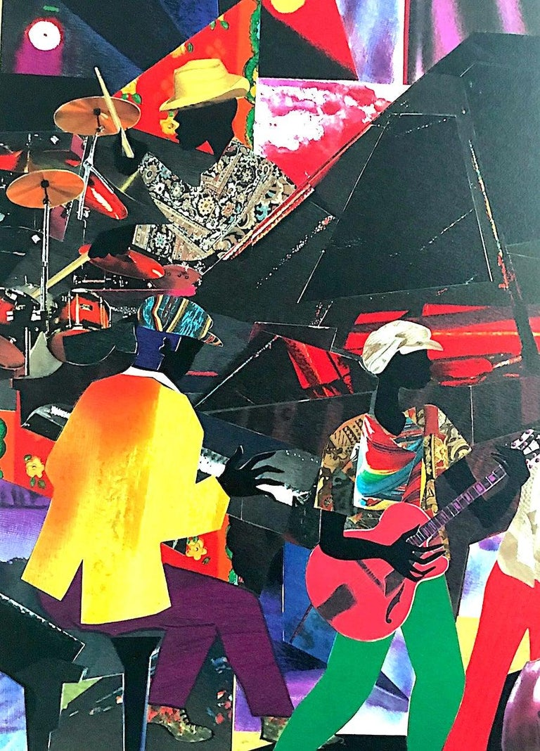 JUMPIN' & JIVIN' Signed Lithograph, Live Music Scene Band Night Club Grand Piano - Print by James Demark
