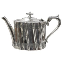 James Dixon & Sons English Edwardian Victorian Silver Plate Coffee Pot Teapot