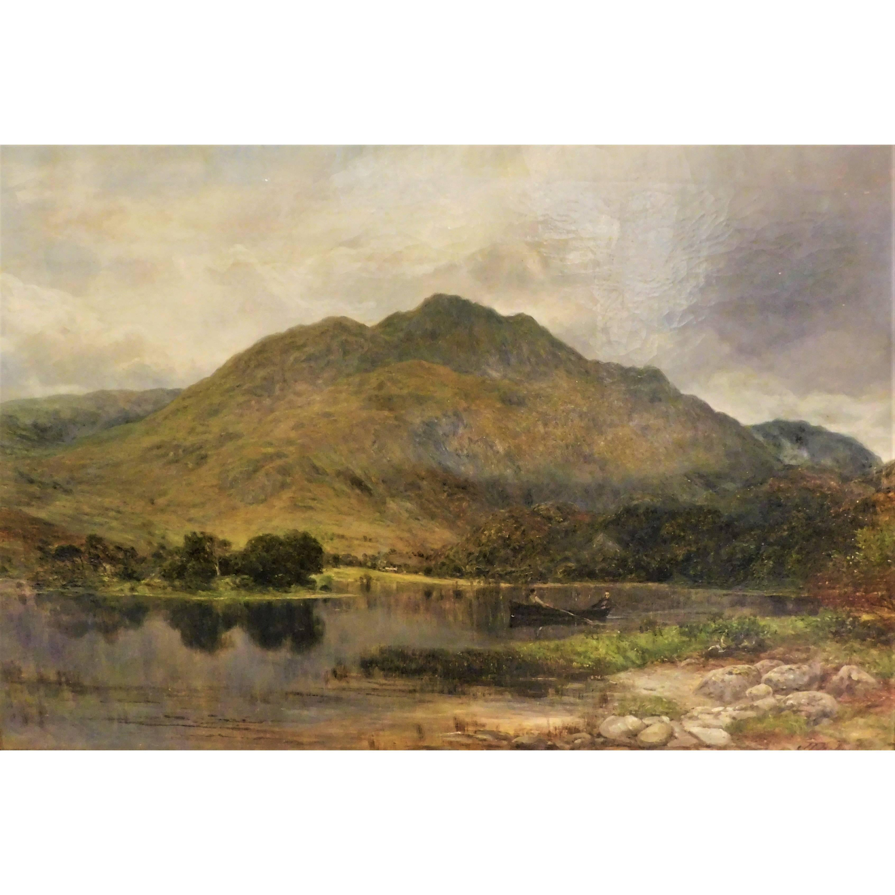 James Docharty Original Oil on Canvas 1874 Landscape Painting