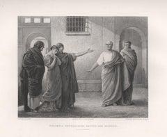 Volumnia Reproaching Brutus And Sicinius, Coriolanus Shakespeare play engraving