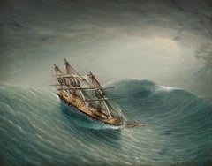 Schooner in a Stormy Sea