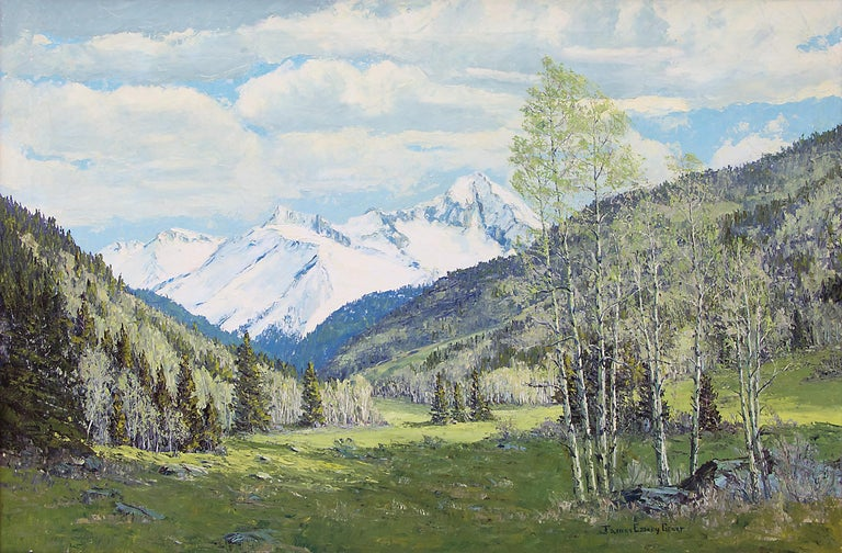 Renewal - Grizzly Peak San Juans (Colorado Mountain Landscape in Spring) - Painting by James Emery Greer