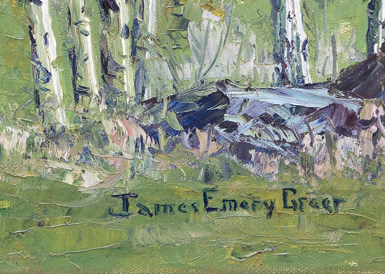 Renewal - Grizzly Peak San Juans (Colorado Mountain Landscape in Spring) - American Impressionist Painting by James Emery Greer