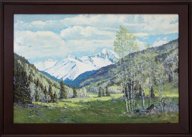 James Emery Greer Landscape Painting - Renewal - Grizzly Peak San Juans (Colorado Mountain Landscape in Spring)