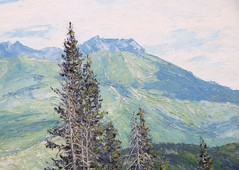 Summer - San Juans (Colorado) - Gray Landscape Painting by James Emery Greer
