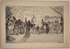 Christus bij de bedelaars , 1895, etching, plate-signed, James Ensor