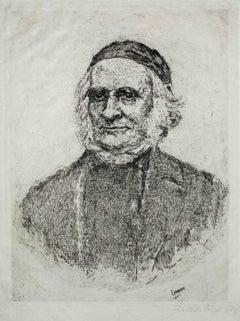 Frise, the Swedish botanist - Original Etching y James Ensor - 1886