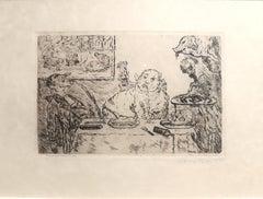 La Gourmandise - Original Etching by James Ensor - 1904