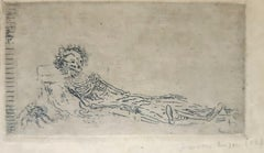 My Portrait in 1960 - Original Etching by James Ensor - 1888