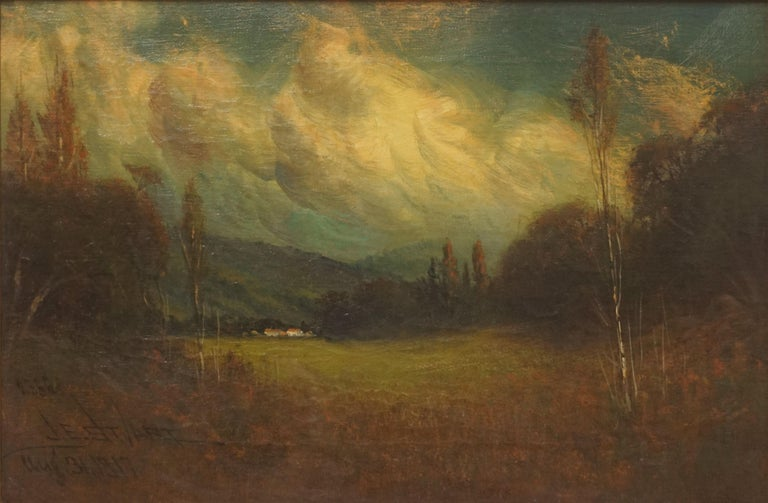 Early 20th Century Late Afternoon Monterey Landscape by James Everett Stuart For Sale 1