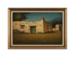 James Everett Stuart Original Western Landscape Oil Painting On Board Signed Art