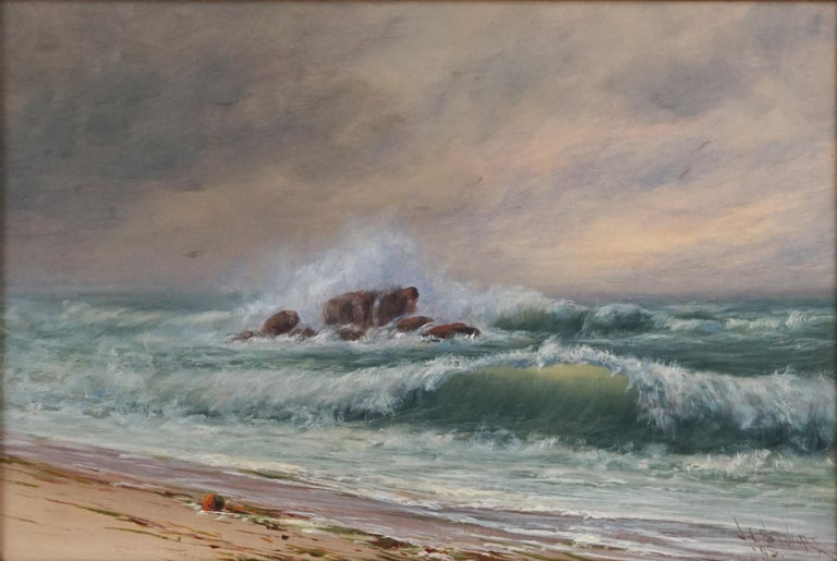 Late 19th Century Northern California Seascape by James Everett Stuart 1