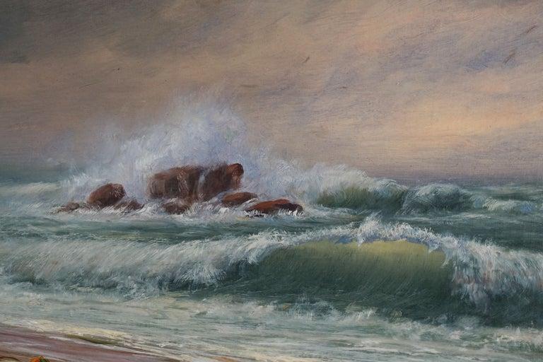 Late 19th Century Northern California Seascape by James Everett Stuart 2