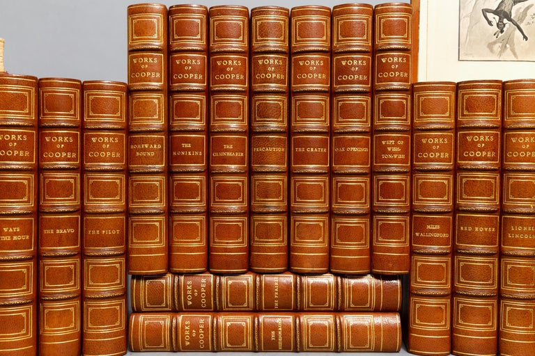 Leather James F. Cooper, Complete Works For Sale