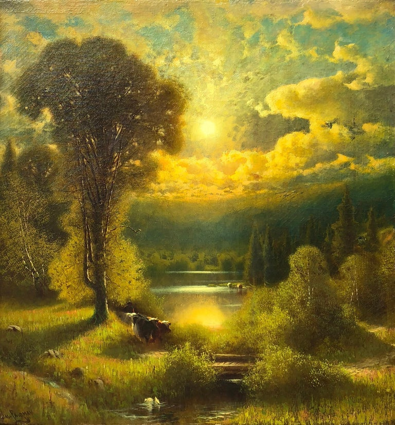 Sunset - Painting by James Fairman