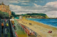 Scarborough. Original Oil Painting. Modern British. Mid-20th Century Landscape.