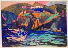Fort on a Cliff (Spanish Mediterranean landscape)
